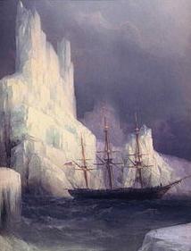 Ледяные горы в Антарктиде